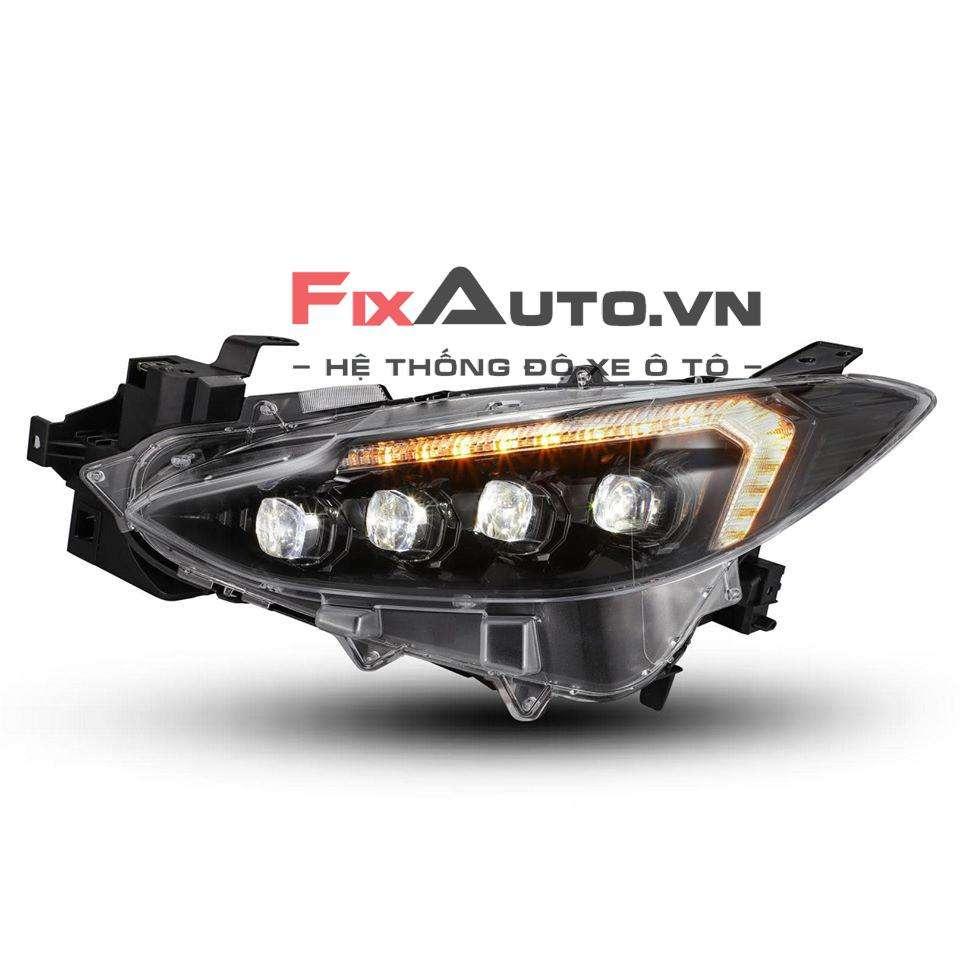 Đèn pha Mazda 3 mẫu 4 bi