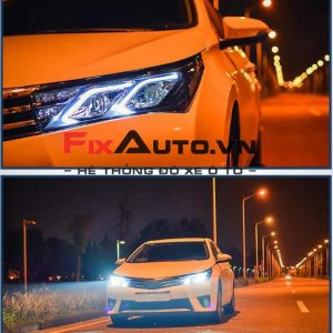 Đèn xe Altis mẫu Mercedes