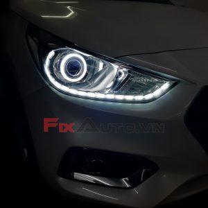 Độ đèn led mí xe Accent