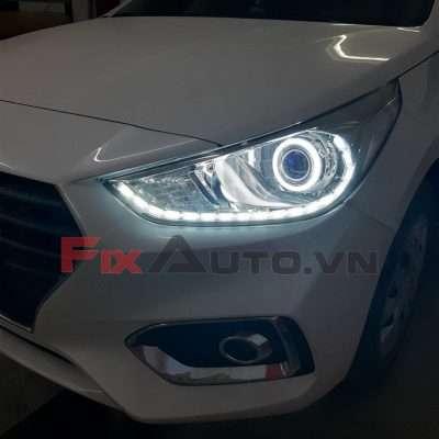 độ đèn led xe Accent