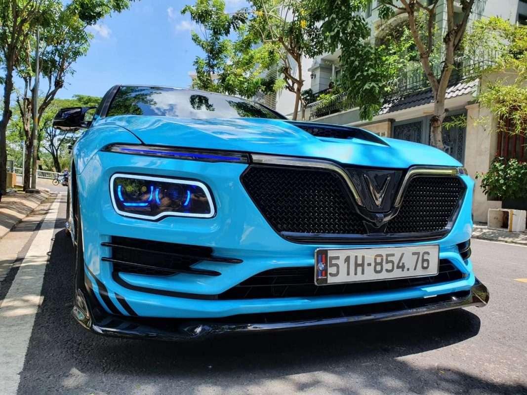 Độ xe Vinfast Lux A mẫu Roll royce