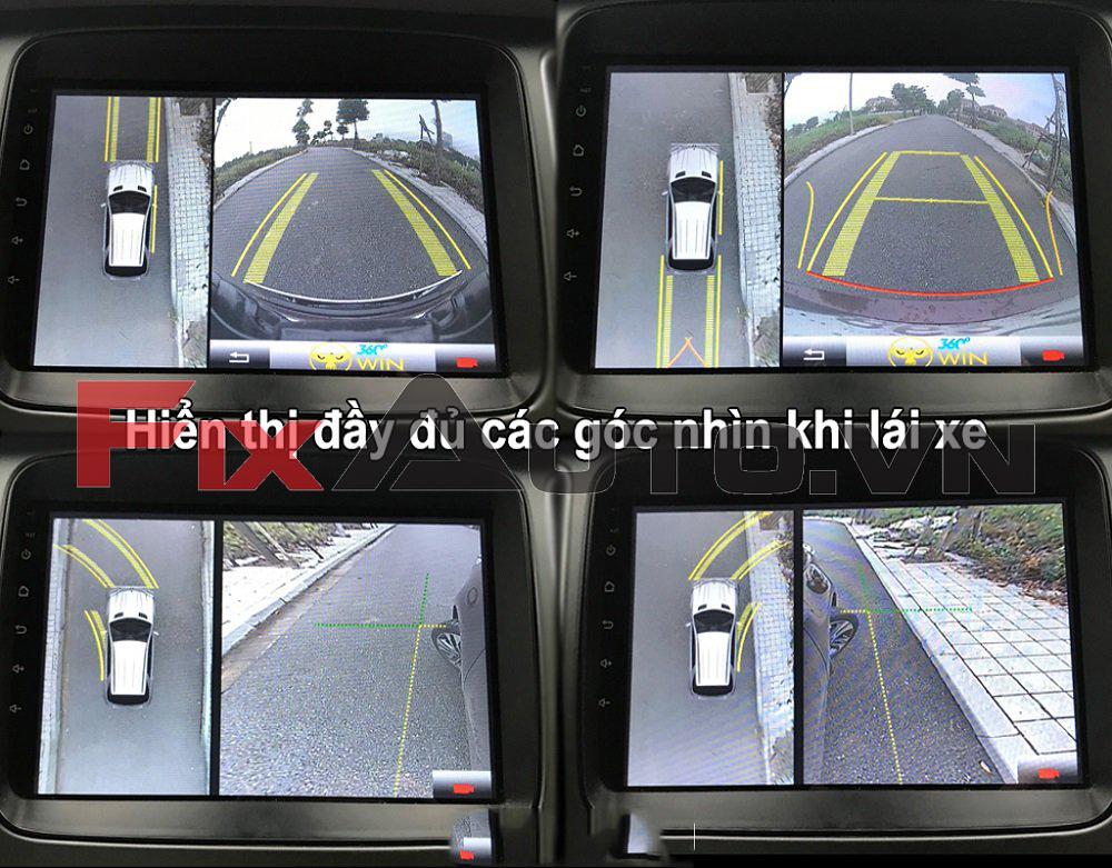 Camera 360 độ đảm bảo an toàn khi lái xe