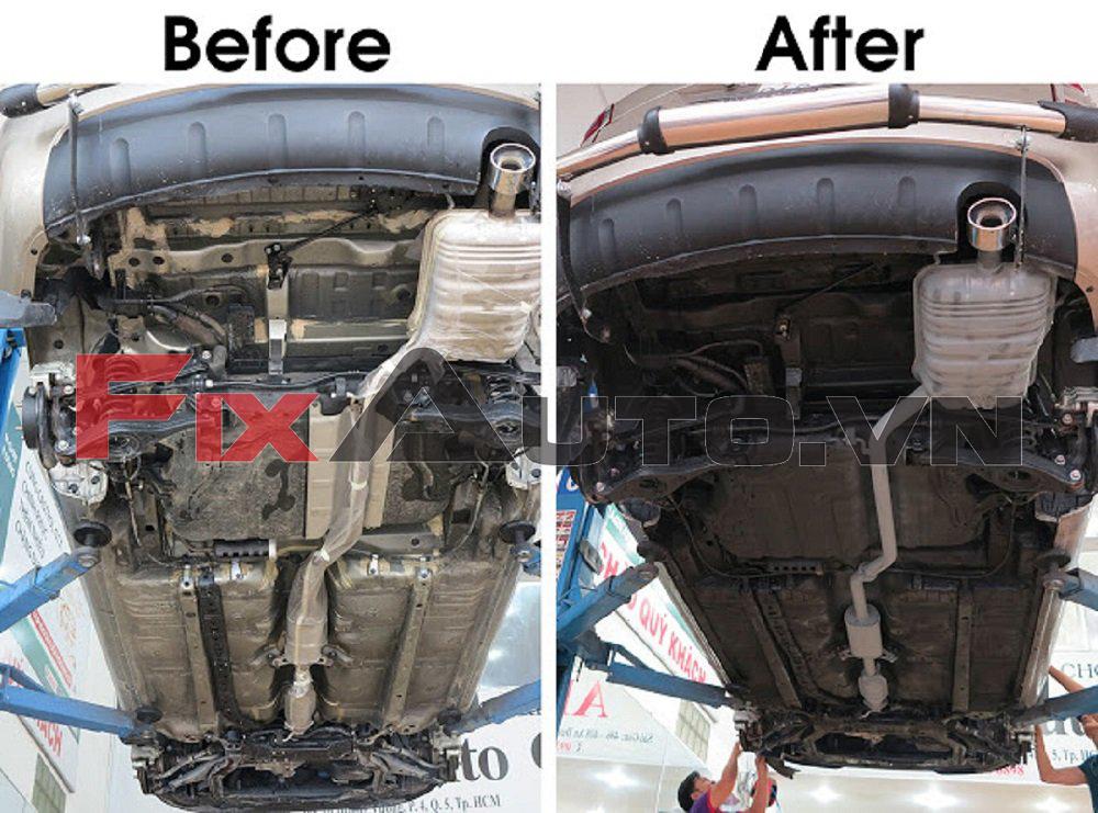 công dụng của phủ gầm xe ô tô